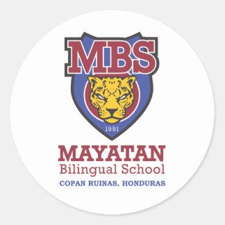 Nuevo logotipo de Mayatan Etiqueta Redonda