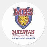 Nuevo logotipo de Mayatan Pegatina Redonda