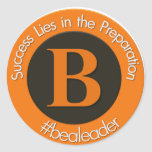 Nuevo logotipo del bealeader pegatina redonda