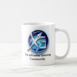 nuevo logotipo del =XG=, la comunidad extrema del  Taza Básica Blanca