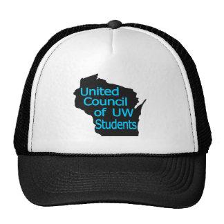 Nuevo logotipo unido del consejo ciánico en negro gorras