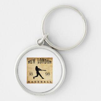 Nuevo Londres Connecticut béisbol de 1898 Llavero Redondo Plateado