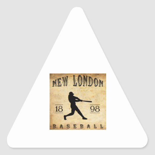 Nuevo Londres Connecticut béisbol de 1898 Pegatina Triangular