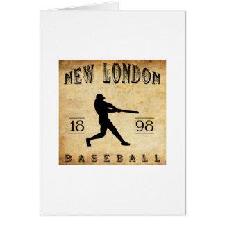 Nuevo Londres Connecticut béisbol de 1898 Tarjeta Pequeña