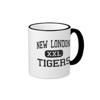 Nuevo Londres - tigres - alto - nuevo Londres Iowa Tazas De Café