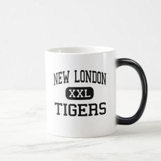 Nuevo Londres - tigres - alto - nuevo Londres Iowa Tazas