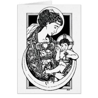 ¡NUEVO ¡Madonna y tarjeta de Navidad del niño