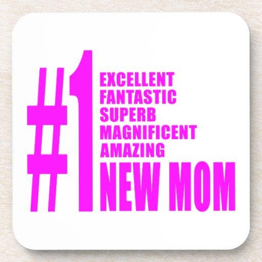 Nuevo mamá del número moderno el rosado de las mam posavaso