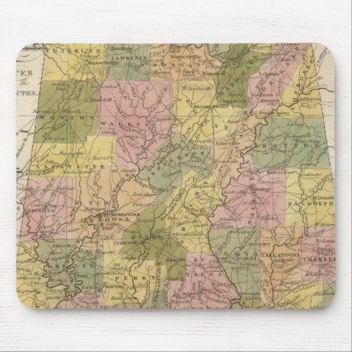 Nuevo mapa de Alabama 2 Tapetes De Raton
