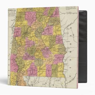 "Nuevo mapa de Alabama Carpeta 1 1/2"""