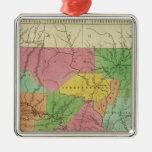 Nuevo mapa de Arkansas 2 Ornamentos Para Reyes Magos
