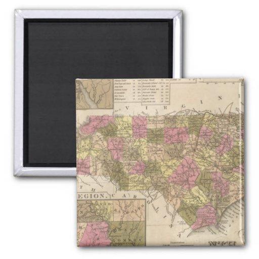 Nuevo mapa de Carolina del Norte Iman De Nevera