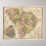 Nuevo mapa de Carolina del Sur 2 Póster