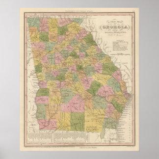 Nuevo mapa de Georgia Poster