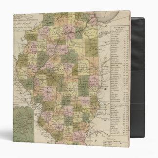 """Nuevo mapa de Illinois 2 Carpeta 1 1/2"""""""