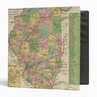 """Nuevo mapa de Illinois Carpeta 1 1/2"""""""