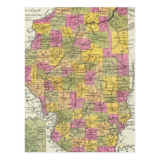 Nuevo mapa de Illinois Postal