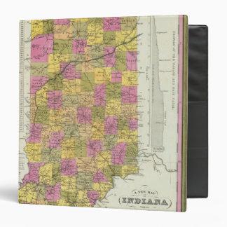 "Nuevo mapa de Indiana 2 Carpeta 1 1/2"""