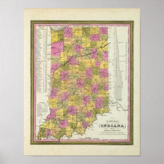 Nuevo mapa de Indiana 2 Posters