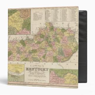 "Nuevo mapa de Kentucky 2 Carpeta 1 1/2"""