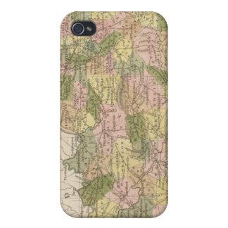 Nuevo mapa de Kentucky 2 iPhone 4 Carcasa