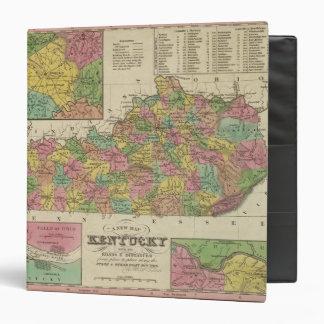 "Nuevo mapa de Kentucky Carpeta 1 1/2"""
