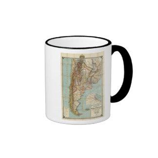 Nuevo mapa de la Argentina Taza De Café