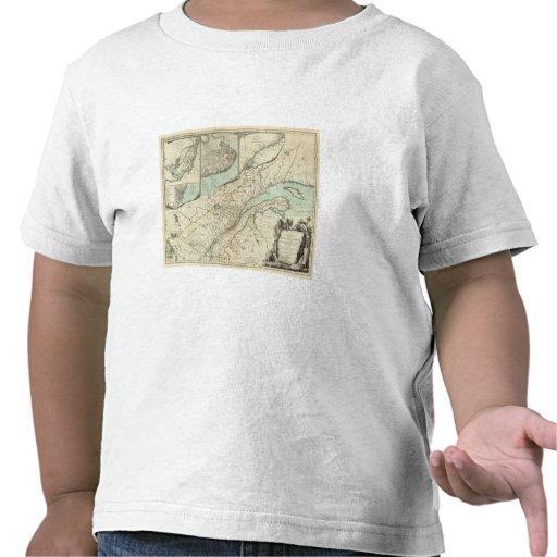 Nuevo mapa de la provincia de Quebec Camisetas