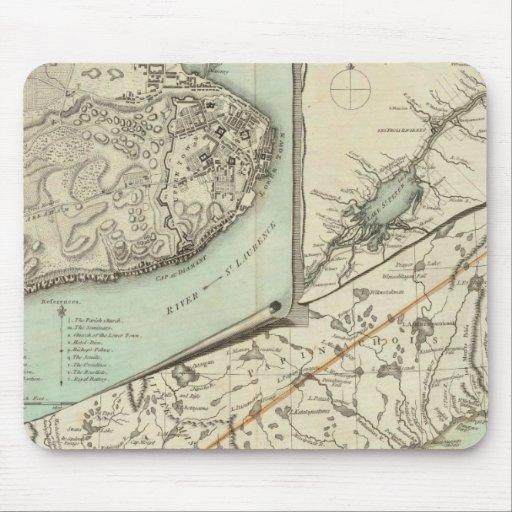 Nuevo mapa de la provincia de Quebec Tapetes De Raton