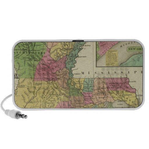 Nuevo mapa de Luisiana 2 iPod Altavoces