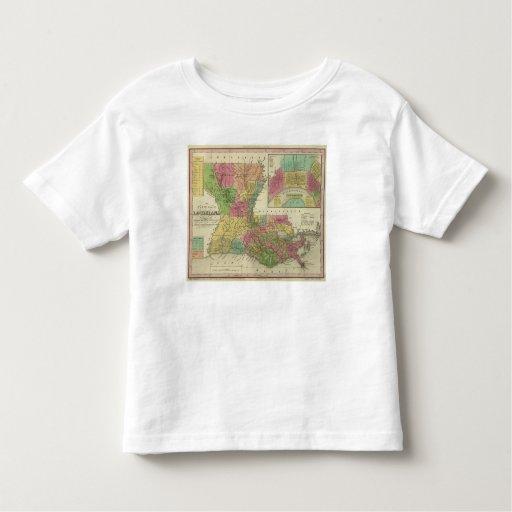 Nuevo mapa de Luisiana 2 Tshirt