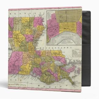 """Nuevo mapa de Luisiana 3 Carpeta 1 1/2"""""""