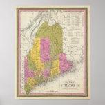 Nuevo mapa de Maine 2 Impresiones