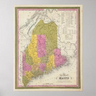 Nuevo mapa de Maine 2 Póster