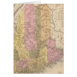 Nuevo mapa de Maine Tarjeta De Felicitación