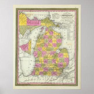 Nuevo mapa de Michigan 2 Impresiones