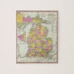 Nuevo mapa de Michigan 2 Puzzle