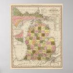 Nuevo mapa de Michigan Póster