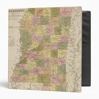 "Nuevo mapa de Mississippi Carpeta 1 1/2"""