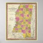 Nuevo mapa de Mississippi Impresiones