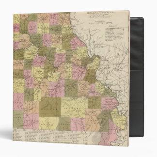 """Nuevo mapa de Missouri 2 Carpeta 1 1/2"""""""