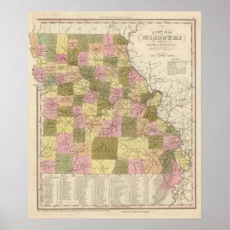 Nuevo mapa de Missouri 2 Poster
