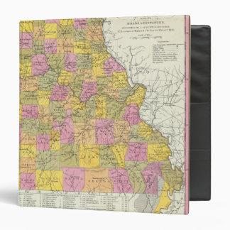 """Nuevo mapa de Missouri Carpeta 1 1/2"""""""
