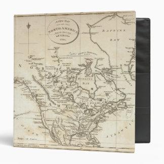"""Nuevo mapa de Norteamérica Carpeta 1 1/2"""""""