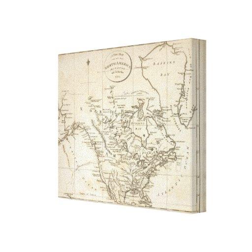 Nuevo mapa de Norteamérica Impresiones En Lona Estiradas