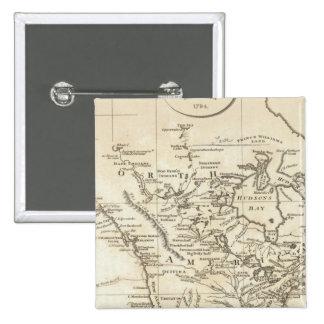 Nuevo mapa de Norteamérica Pin Cuadrado