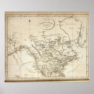 Nuevo mapa de Norteamérica Póster