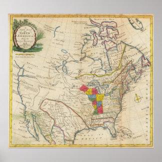 Nuevo mapa de Norteamérica Poster