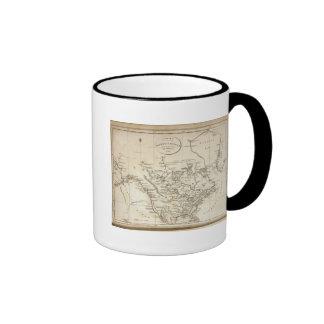 Nuevo mapa de Norteamérica Tazas De Café