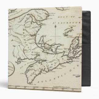 """Nuevo mapa de Nueva Escocia, Nuevo Brunswick Carpeta 1 1/2"""""""